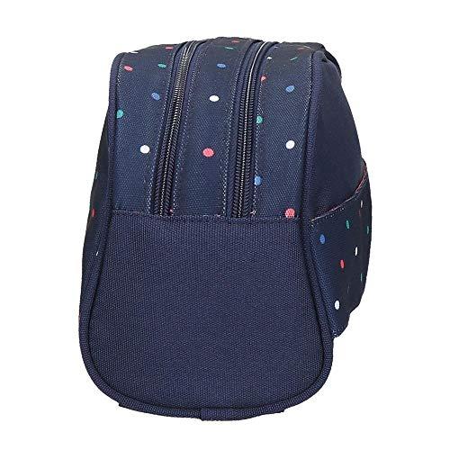 Neceser Pepe Jeans Molly Doble Compartimento Adaptable, Azul, 26 x 16 x 12 cm