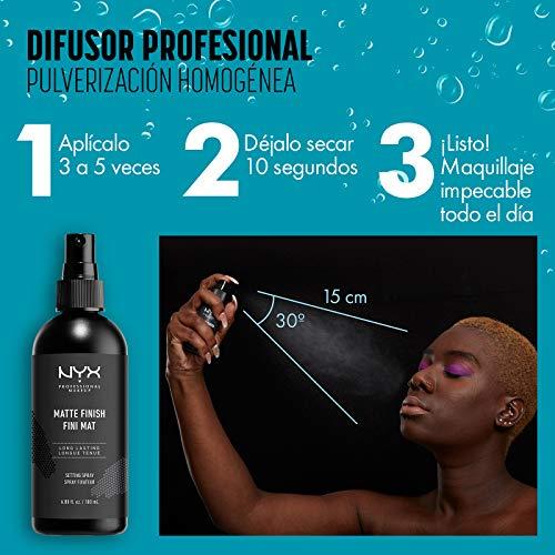 NYX Professional Makeup Spray fijador Makeup Setting Spray, Larga duración, Ligero, Fórmula vegana, Acabado Matte, 60 ml