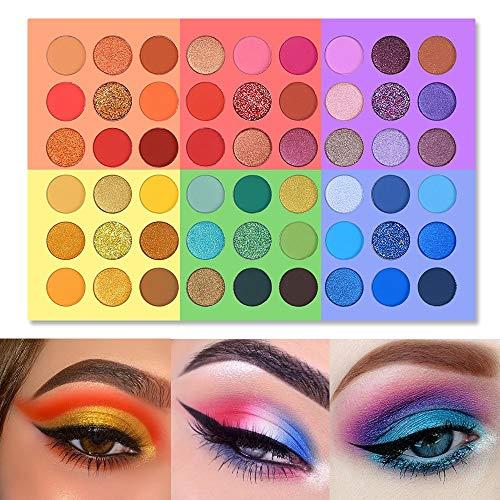 UCANBE Splashy Candies Paleta de sombras de ojos 54 colores Brillo metálico Mate Sombra de ojos altamente pigmentada en polvo Maquillaje Ojos duraderos Cosméticos faciales Set