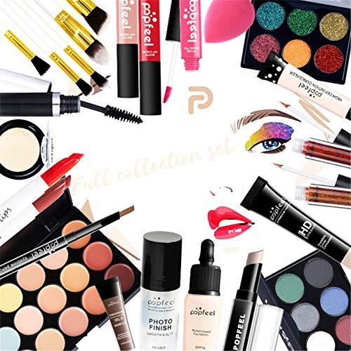Pure Vie Kit de maquillaje multiusos Paleta de Maquillaje Set Paleta de Sombras de Ojos Juego de Maquillaje Kit de Maquillaje para Mujeres y Niñas Caja de Regalo Cosméticos #085