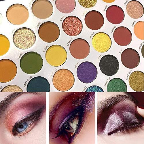 Beauty Glazed 40 Color Reversal Planet Paleta de sombras de ojos Maquillaje de ojos Impermeable Mineral Polvo brillante Brillo Resaltador Sombra de ojos ahumada Paleta de maquillaje Herramientas