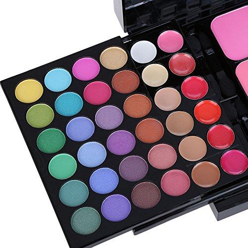 HKLANCUI Sombra de ojos y paleta de maquillaje,Paleta de Correctores, 78 Colores Juego de Maquillaje Set de Sombras de Ojos Todo en 1con 8 Cepillos