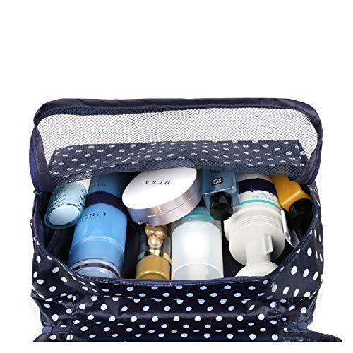 Neceser de viaje para colgar en el baño, organizador de maquillaje y cosméticos, para mujeres y niñas, resistente al agua
