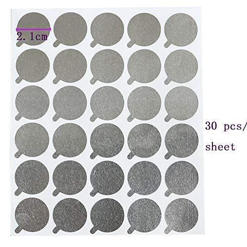 Accesorios Extensión Pestañas Soporte Pegamento Para Extensiones Pestañas 600pcs 2.1cm Soporte Pegamento Pestañas Desechable Pallet Impermeable Adhesivo Adhesivo Almohadillas Suministros