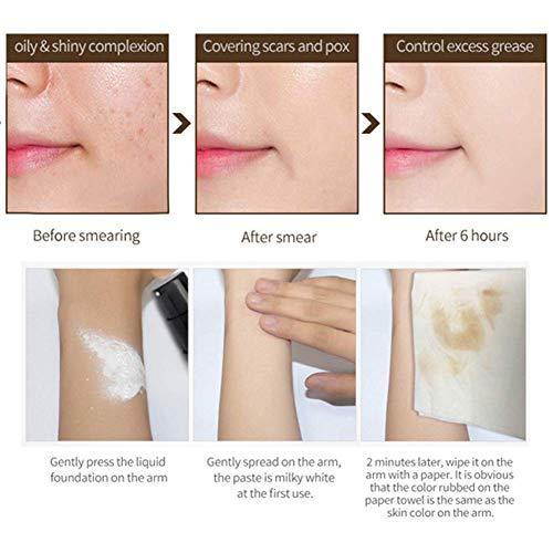 Base de Maquillaje,Base Líquida,Flawless Foundation,Resistente al Agua, Duradero, 24H Base de Maquillaje de Larga Duración