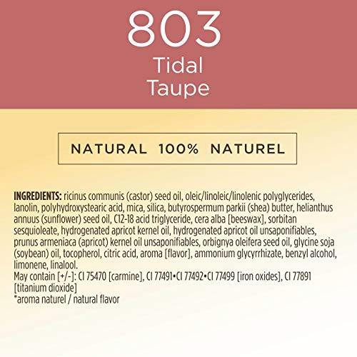 Burt's Bees Burt's Bees - Palillo de labios líquido hidratante 100% natural, cobertura completa, color gris oscuro - 1 tubo - 5,95 g, color gris oscuro