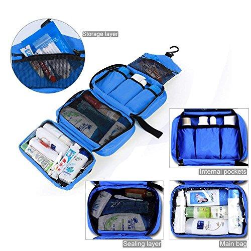 Neceser Viaje Hombre y Mujer, Boic Pequeño Bolsas de Aseo Impermeable, Neceser Maquillaje Pack Neceser Baño Toiletry Kit, Cosmético Organizadores de Viaje Travel Toiletry Bag (Azul)