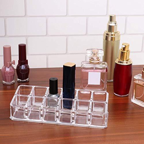 Organizador de Maquillaje del Lápiz Labial ,Organizador de Maquillaje Transparente de 12 Space, Expositor de Cosméticos, Pintalabios,Estante de La Muestra Cosmética(2 Piezas)