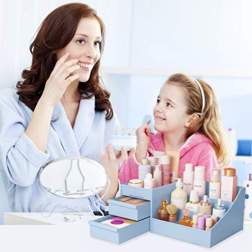 Organizador de Maquillaje con Gavetas, Escritorio Cajón De Tipo Caja de Almacenamiento de Cosméticos para Joyería Accesorios, Vitrina sobre Encimera para Baño Tocadores