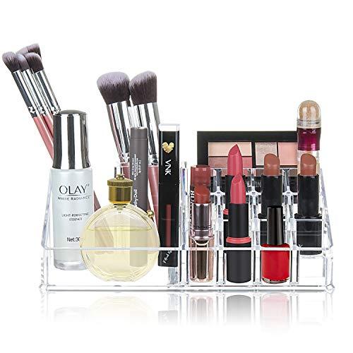 Organizador de Maquillaje, Comius Sharp Maquillaje Cosmético Acrílico Organizador Expositor de Cosméticos para Guardar Cosméticos, Pinceles de Maquillaje, Barras de Labios