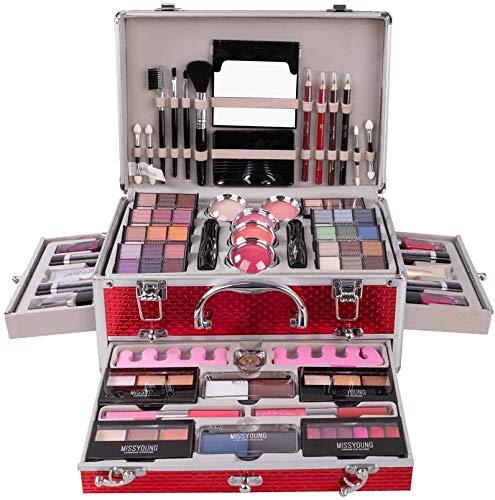 Estuche de Maquillaje CHAWHO Juego de maquillaje - Caja de maquillaje profesional de Cosmética Set Maletín de Maquillaje completo Sombras de ojos, lápiz labial, rubor Caja de regalos para mujer #1