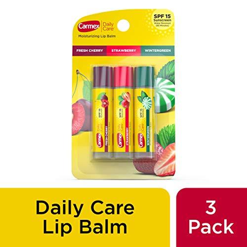 Variedad de bálsamo labial Carmex Daily Care 0.15 oz Paquete de 3 tubos