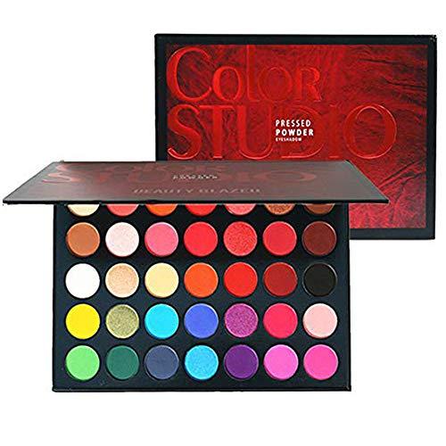 Paleta de sombras de ojos Paleta de maquillaje, tonos de color perfectamente combinables, mate, texturas luminosas y brillantes, para ojos seductores