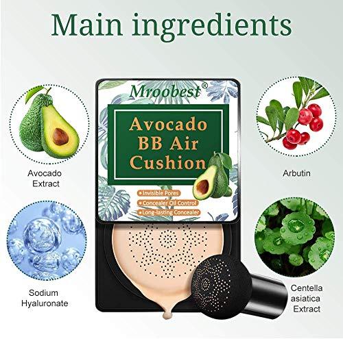 CC Crema, BB Cream, Líquida Fundación, Mushroom Air Cushion, Corrector Base Duradera Hidratación, Hidratante Corrector Permeable al aire, Brillo natural