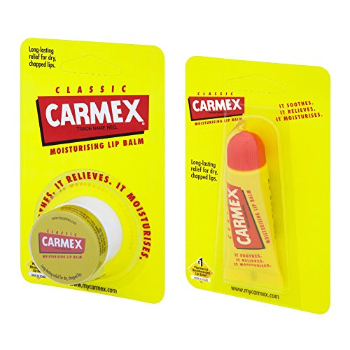 Carmex Original Bálsamo labial, paquete doble de lata y tubo