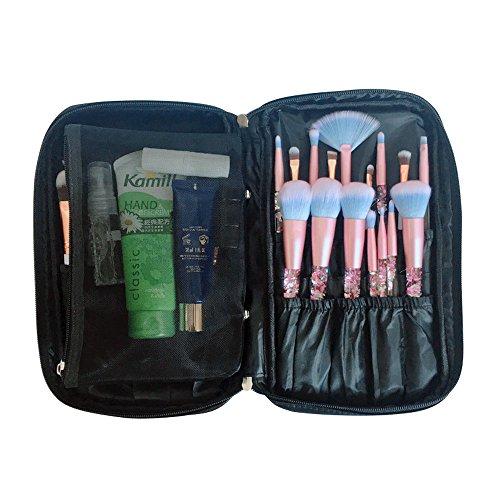 ONEGenug Maquillaje Cepillos Organizador Bolso Cosmético Herramientas Bolso Belleza Estuche con Correa Cinturón