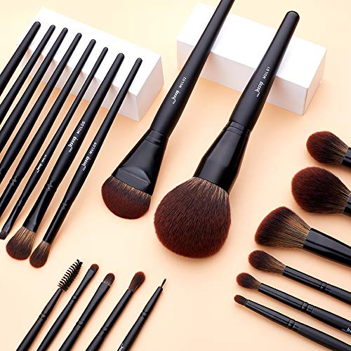 Jessup Juego de brochas de maquillaje profesional colección completa, pelo sintético, base de mezcla en polvo, resaltado contorno corrector,delineador T271
