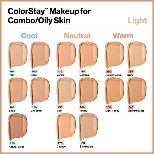 Revlon Colorstay 24H, Base de maquillaje para rostro, para cutis mixto/graso, SPF15, con dosificador, color Beige (150 Buff), 30ml