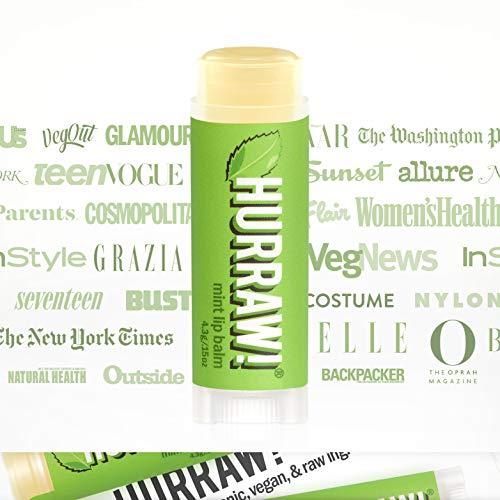 Bálsamo labial orgánico, de Hurraw, vegano, de alta calidad, 4,3 g