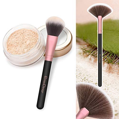 Brochas de Maquillaje EmaxDesign 18 pcs Juego de brochas de maquillaje profesional Premium Sintético Pinceles de maquillaje para Fundación Sonrojo Ocultadora Polvo Líquido Crema (Rose Golden)