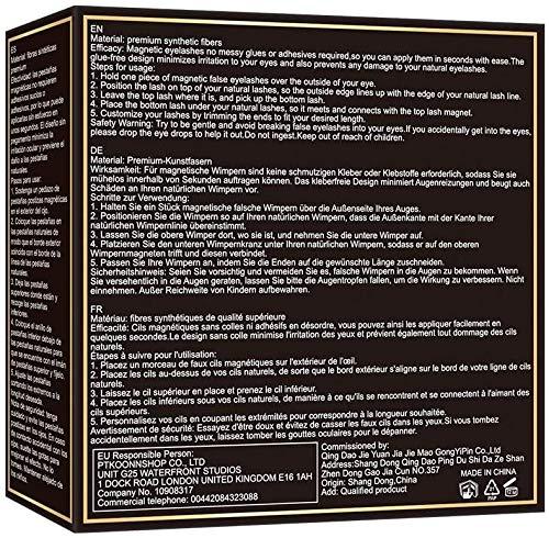 Pestañas magneticas,Pestanas magneticas con delineador,Magneticas Delineador,Pestañas magneticas naturales 3d,Reutilizables Pestañas Eyeliner Waterproof con pinzas(4 Pares)