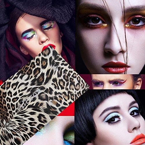 Allwon Paleta de maquillaje magnética de Paleta de maquillaje vacía de leopardo para lápiz labial Blush Sombra de ojos