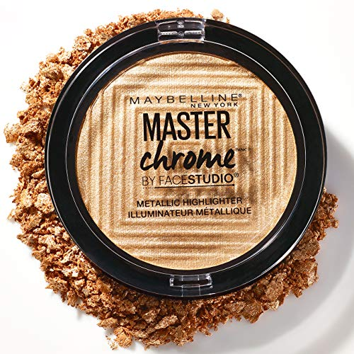 Maybelline NY Master Chrome - Polvos Iluminadores Metalizados, Tono 100 Molten Gold