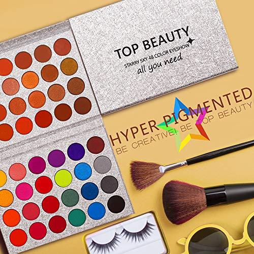 Paleta de sombras de ojos Maquillaje Brillo mate 48 colores Desnudos profesionales altamente pigmentados Cálido Bronce natural Neutro Sombras de ojos cosméticas ahumadas