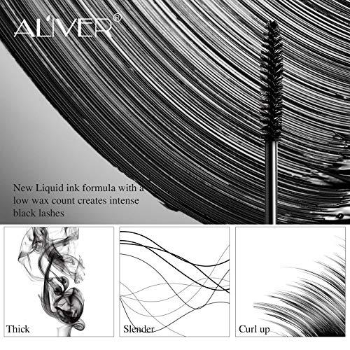 Máscara de pestañas de fibra de seda 4D: pestañas extra largas, resistente al agua, duradera, espesante, extensión de pestañas, maquillaje de pestañas a prueba de manchas