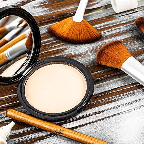 bambuswald©Aplicadores de maquillaje: Set de 8 brochas con mango de bambú   Pinceles de pelo sintético para aplicar maquillaje líquido, cremas y polvos   Múltiples tipos de cepillos con estuche